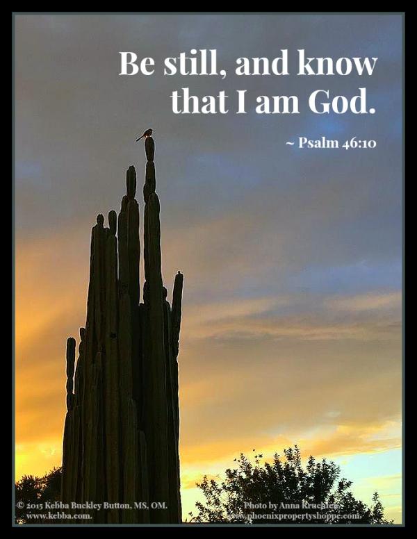 stress. Peace Within, Upbeat Spiritual Living, Rev. Kebba Buckley Button, stillness