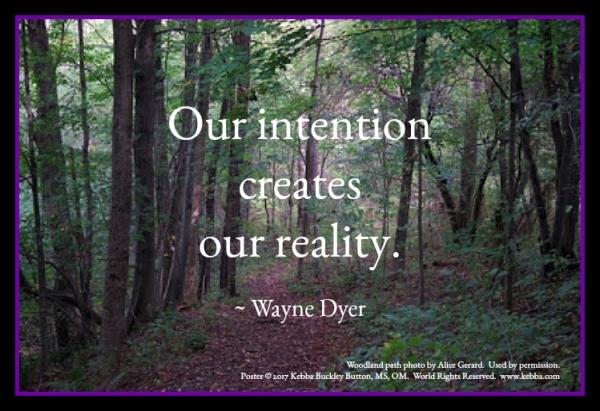 intention, Rev. Kebba Buckley Button, Upbeat Spiritual Living